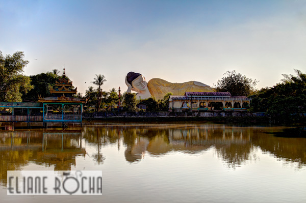 Reclined buddha in Bago