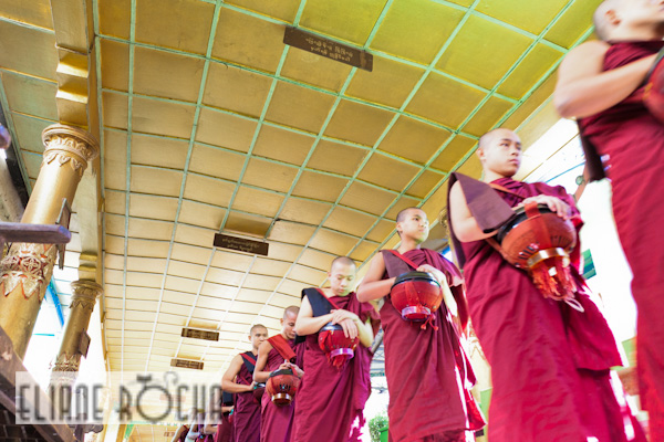 Monks in Bago