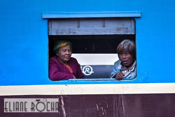 Kalaw - Burma - Train Passengers
