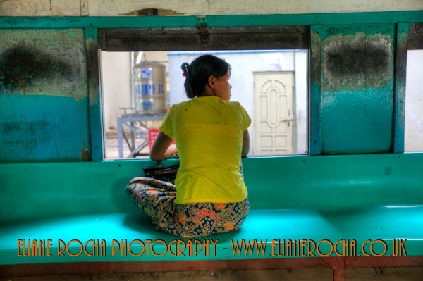 On the Train - Yangoon - Burma